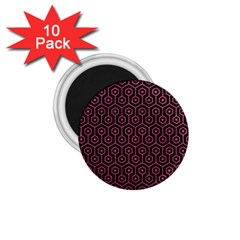 Hexagon1 Black Marble & Pink Denim (r) 1 75  Magnets (10 Pack)  by trendistuff