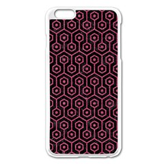 Hexagon1 Black Marble & Pink Denim (r) Apple Iphone 6 Plus/6s Plus Enamel White Case by trendistuff