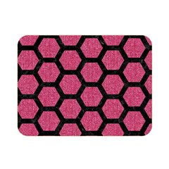 Hexagon2 Black Marble & Pink Denim Double Sided Flano Blanket (mini)  by trendistuff