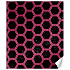 Hexagon2 Black Marble & Pink Denim (r) Canvas 20  X 24   by trendistuff