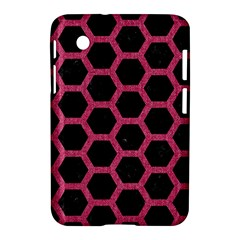 Hexagon2 Black Marble & Pink Denim (r) Samsung Galaxy Tab 2 (7 ) P3100 Hardshell Case  by trendistuff