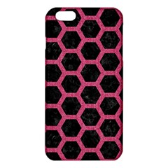 Hexagon2 Black Marble & Pink Denim (r) Iphone 6 Plus/6s Plus Tpu Case by trendistuff