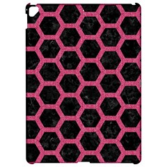 Hexagon2 Black Marble & Pink Denim (r) Apple Ipad Pro 12 9   Hardshell Case by trendistuff