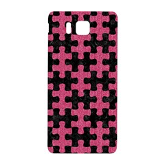 Puzzle1 Black Marble & Pink Denim Samsung Galaxy Alpha Hardshell Back Case by trendistuff