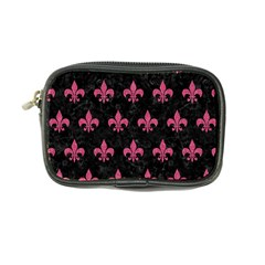 Royal1 Black Marble & Pink Denim Coin Purse by trendistuff