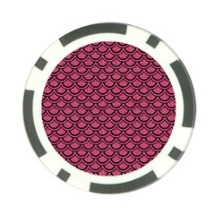Scales2 Black Marble & Pink Denim Poker Chip Card Guard (10 Pack) by trendistuff