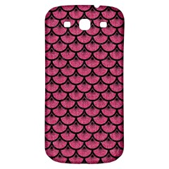 Scales3 Black Marble & Pink Denim Samsung Galaxy S3 S Iii Classic Hardshell Back Case by trendistuff
