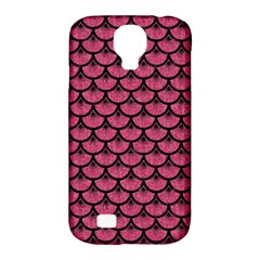 Scales3 Black Marble & Pink Denim Samsung Galaxy S4 Classic Hardshell Case (pc+silicone) by trendistuff
