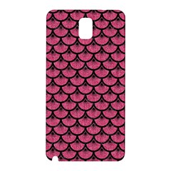Scales3 Black Marble & Pink Denim Samsung Galaxy Note 3 N9005 Hardshell Back Case by trendistuff