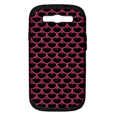 Scales3 Black Marble & Pink Denim (r) Samsung Galaxy S Iii Hardshell Case (pc+silicone) by trendistuff