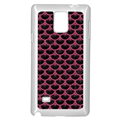 Scales3 Black Marble & Pink Denim (r) Samsung Galaxy Note 4 Case (white) by trendistuff