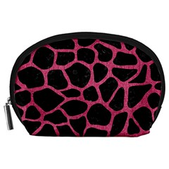 Skin1 Black Marble & Pink Denim Accessory Pouches (large)  by trendistuff