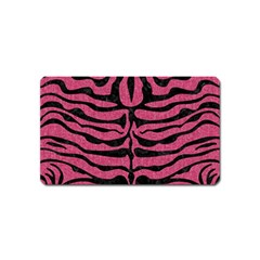 Skin2 Black Marble & Pink Denim Magnet (name Card) by trendistuff