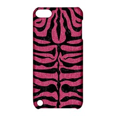 Skin2 Black Marble & Pink Denim Apple Ipod Touch 5 Hardshell Case With Stand by trendistuff