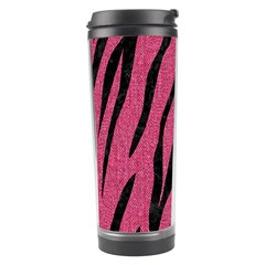 Skin3 Black Marble & Pink Denim Travel Tumbler by trendistuff