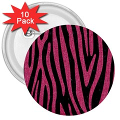 Skin4 Black Marble & Pink Denim 3  Buttons (10 Pack)  by trendistuff