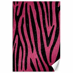 Skin4 Black Marble & Pink Denim (r) Canvas 20  X 30   by trendistuff