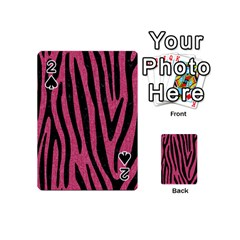 Skin4 Black Marble & Pink Denim (r) Playing Cards 54 (mini)  by trendistuff