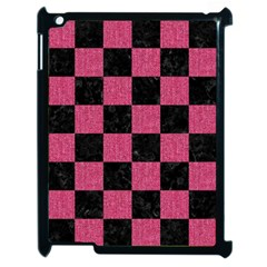 Square1 Black Marble & Pink Denim Apple Ipad 2 Case (black) by trendistuff