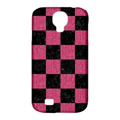 Square1 Black Marble & Pink Denim Samsung Galaxy S4 Classic Hardshell Case (pc+silicone) by trendistuff