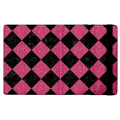 Square2 Black Marble & Pink Denim Apple Ipad 3/4 Flip Case by trendistuff