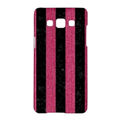 Stripes1 Black Marble & Pink Denim Samsung Galaxy A5 Hardshell Case  by trendistuff