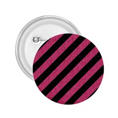 Stripes3 Black Marble & Pink Denim (r) 2 25  Buttons by trendistuff