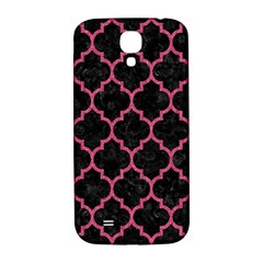 Tile1 Black Marble & Pink Denim (r) Samsung Galaxy S4 I9500/i9505  Hardshell Back Case by trendistuff