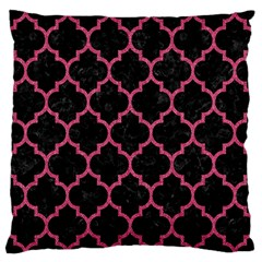 Tile1 Black Marble & Pink Denim (r) Standard Flano Cushion Case (one Side) by trendistuff