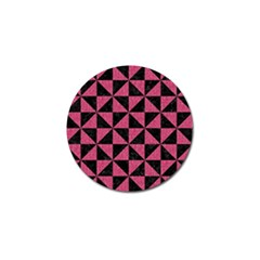Triangle1 Black Marble & Pink Denim Golf Ball Marker by trendistuff