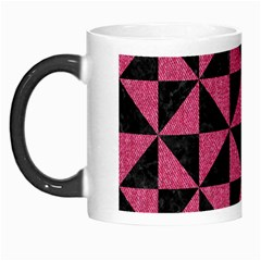 Triangle1 Black Marble & Pink Denim Morph Mugs by trendistuff
