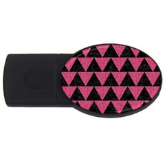 Triangle2 Black Marble & Pink Denim Usb Flash Drive Oval (2 Gb)