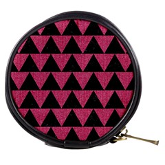 Triangle2 Black Marble & Pink Denim Mini Makeup Bags by trendistuff