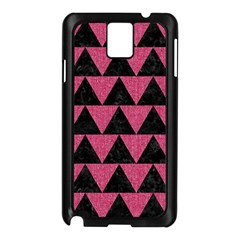 Triangle2 Black Marble & Pink Denim Samsung Galaxy Note 3 N9005 Case (black) by trendistuff