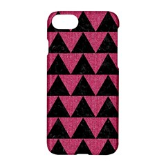 Triangle2 Black Marble & Pink Denim Apple Iphone 7 Hardshell Case by trendistuff