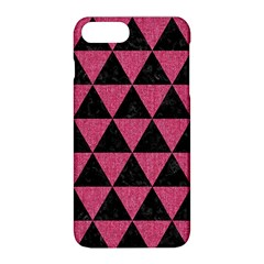 Triangle3 Black Marble & Pink Denim Apple Iphone 8 Plus Hardshell Case by trendistuff