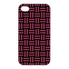 Woven1 Black Marble & Pink Denim (r) Apple Iphone 4/4s Hardshell Case by trendistuff