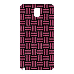 Woven1 Black Marble & Pink Denim (r) Samsung Galaxy Note 3 N9005 Hardshell Back Case by trendistuff