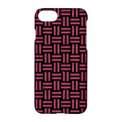 Woven1 Black Marble & Pink Denim (r) Apple Iphone 7 Hardshell Case by trendistuff