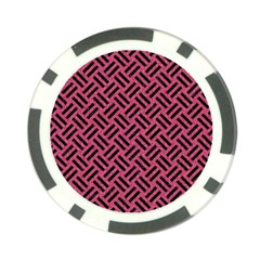Woven2 Black Marble & Pink Denim Poker Chip Card Guard (10 Pack) by trendistuff