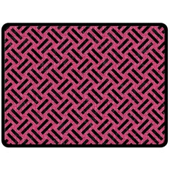 Woven2 Black Marble & Pink Denim Double Sided Fleece Blanket (large)  by trendistuff