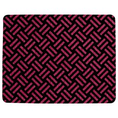 Woven2 Black Marble & Pink Denim (r) Jigsaw Puzzle Photo Stand (rectangular) by trendistuff