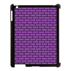 Brick1 Black Marble & Purple Denim Apple Ipad 3/4 Case (black) by trendistuff