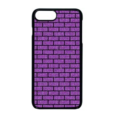 Brick1 Black Marble & Purple Denim Apple Iphone 8 Plus Seamless Case (black)