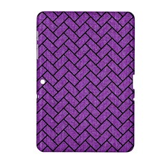 Brick2 Black Marble & Purple Denim Samsung Galaxy Tab 2 (10 1 ) P5100 Hardshell Case  by trendistuff