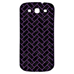 Brick2 Black Marble & Purple Denim (r) Samsung Galaxy S3 S Iii Classic Hardshell Back Case by trendistuff