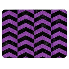 Chevron2 Black Marble & Purple Denim Samsung Galaxy Tab 7  P1000 Flip Case by trendistuff