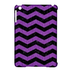 Chevron3 Black Marble & Purple Denim Apple Ipad Mini Hardshell Case (compatible With Smart Cover) by trendistuff