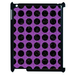 Circles1 Black Marble & Purple Denim Apple Ipad 2 Case (black) by trendistuff