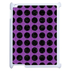 Circles1 Black Marble & Purple Denim Apple Ipad 2 Case (white) by trendistuff